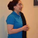 Indijska ambasadorka u Srbiji Narinder Čauhan prilikom posete ambasadorke Međunarodnoj joga akademiji