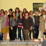 Predstavnici Joga saveza Srbije i Indijskog kulturnog centra učesnici 58. Sajma knjiga 2013. na štandu Indijske ambasade.