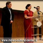 Ambasadorka Indije u Srbiji Narinder Čauhan prilkom otvaranja Festivala indijskog filma u Muzeju filmskog arhiva u Srbiji.