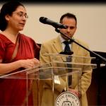 Ambasadorka Indije u Srbiji Narinder Čauhan prilkom otvaranja Festivala indijskog filma u Muzeju filmskog arhiva u Srbiji. 1